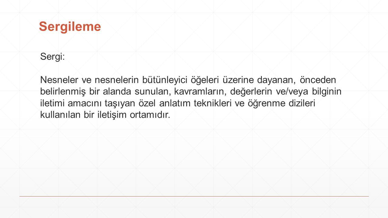 Sergileme Sergi: