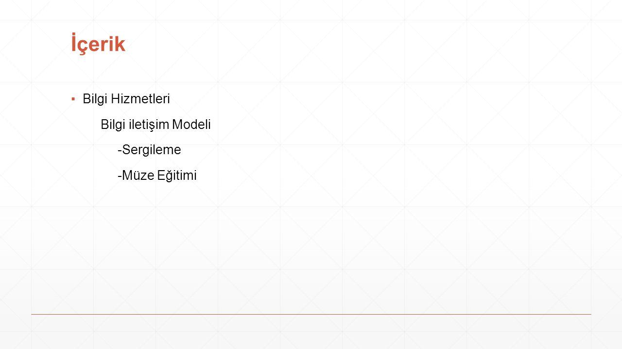 İçerik Bilgi Hizmetleri Bilgi iletişim Modeli -Sergileme -Müze Eğitimi