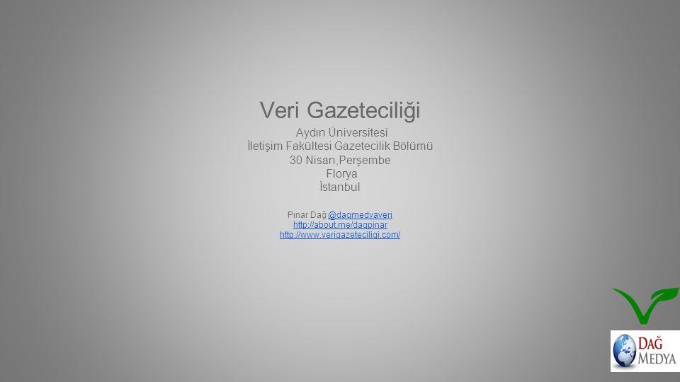 Veri Gazeteciliği Aydın Üniversitesi İletişim Fakültesi Gazetecilik Bölümü