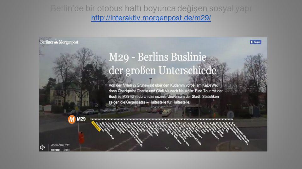 Berlin'de bir otobüs hattı boyunca değişen sosyal yapı