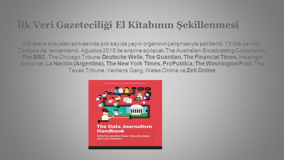 İlk Veri Gazeteciliği El Kitabının Şekillenmesi