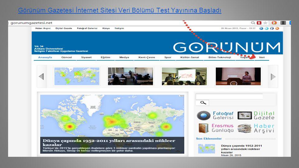 Görünüm Gazetesi İnternet Sitesi Veri Bölümü Test Yayınına Başladı