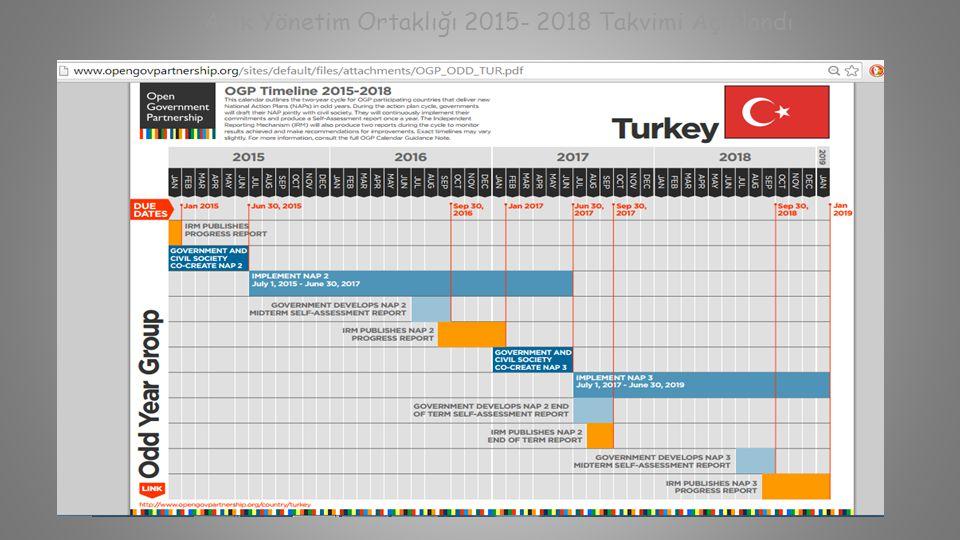 Açık Yönetim Ortaklığı 2015- 2018 Takvimi Açıklandı