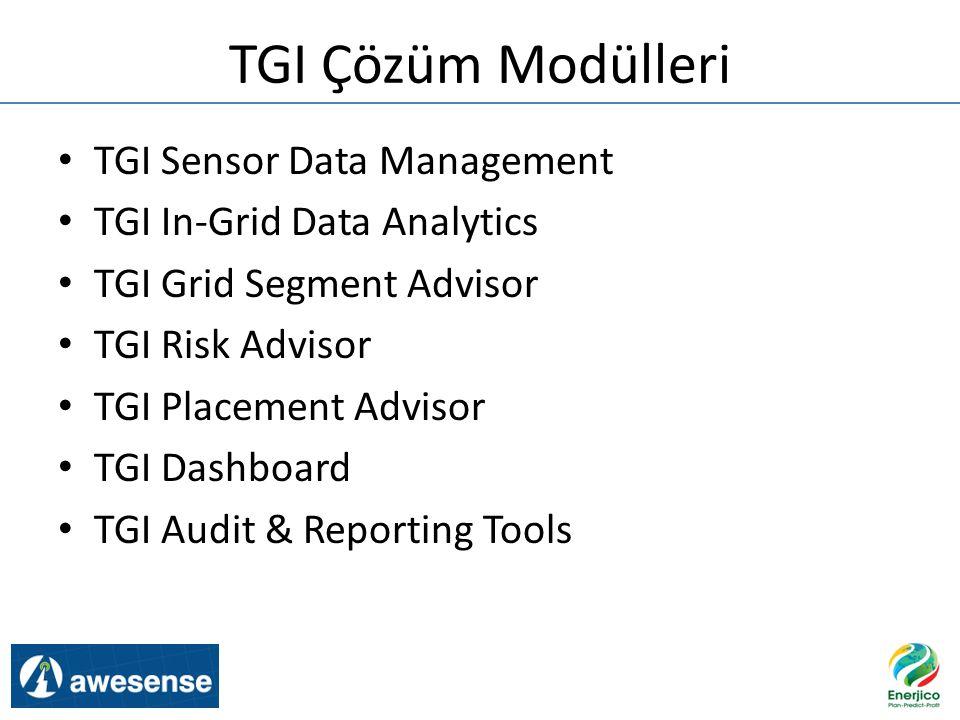 TGI Çözüm Modülleri TGI Sensor Data Management