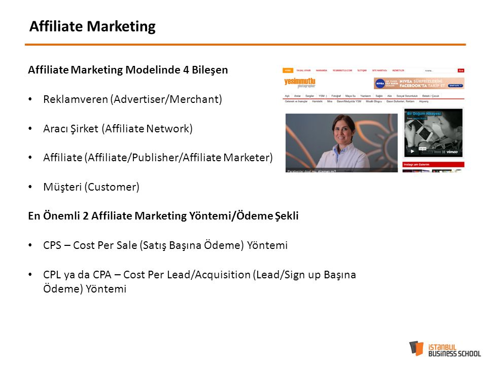 Affiliate Marketing Affiliate Marketing Modelinde 4 Bileşen