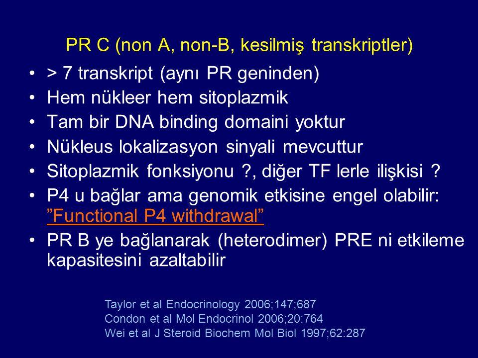 PR C (non A, non-B, kesilmiş transkriptler)