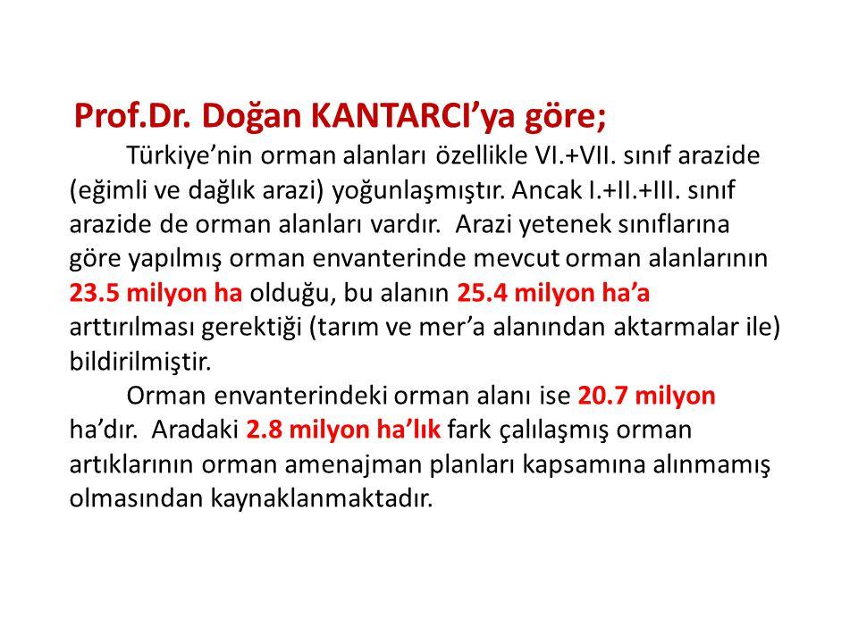 Prof.Dr. Doğan KANTARCI'ya göre;