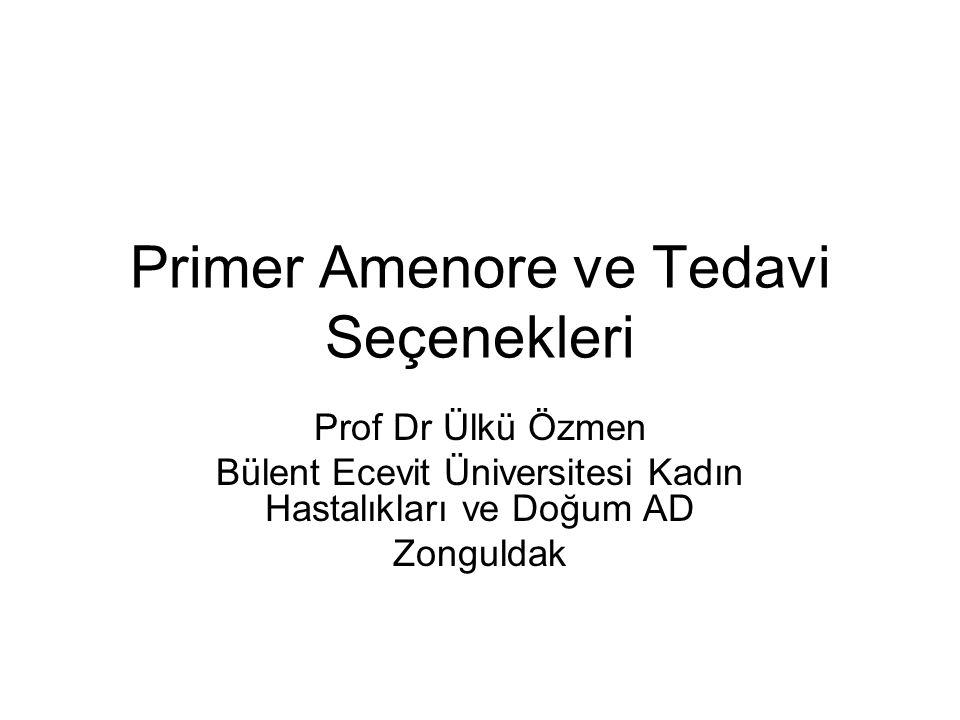 Primer Amenore ve Tedavi Seçenekleri
