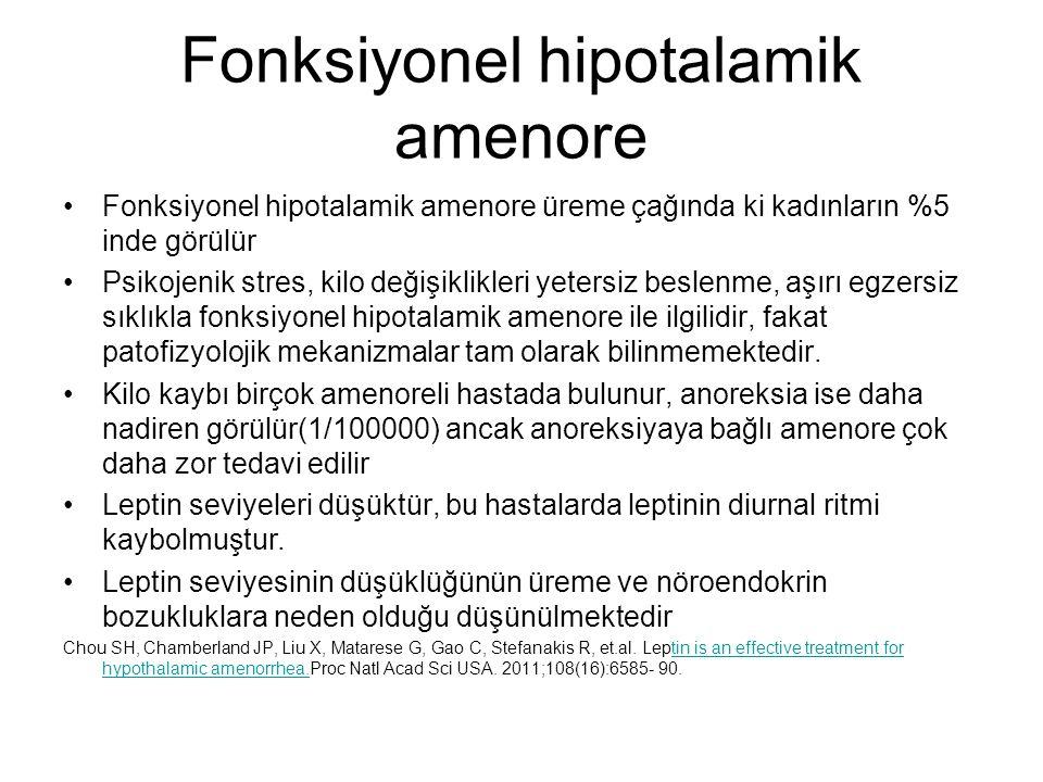 Fonksiyonel hipotalamik amenore