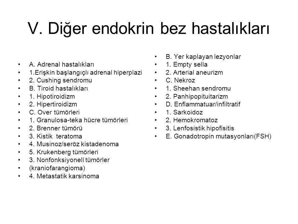 V. Diğer endokrin bez hastalıkları