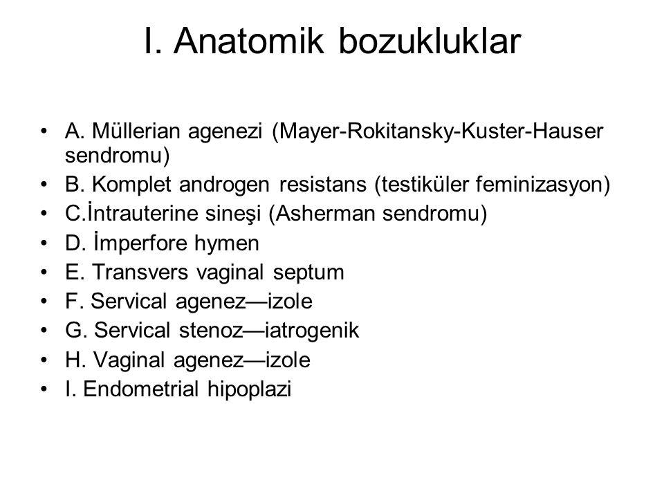 I. Anatomik bozukluklar