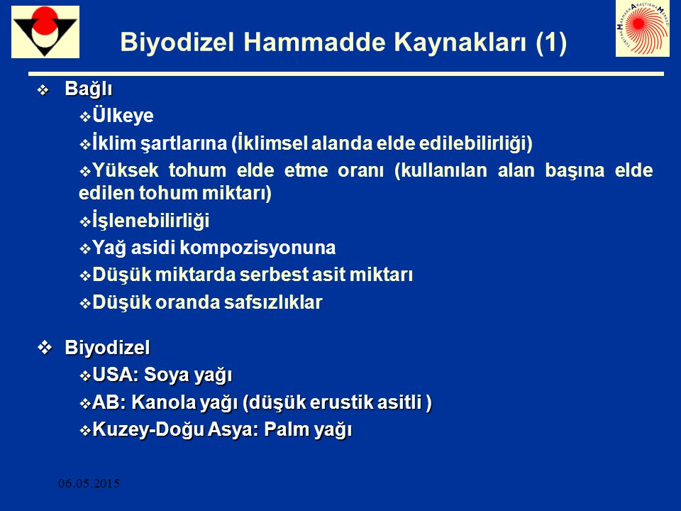 Biyodizel Hammadde Kaynakları (1)