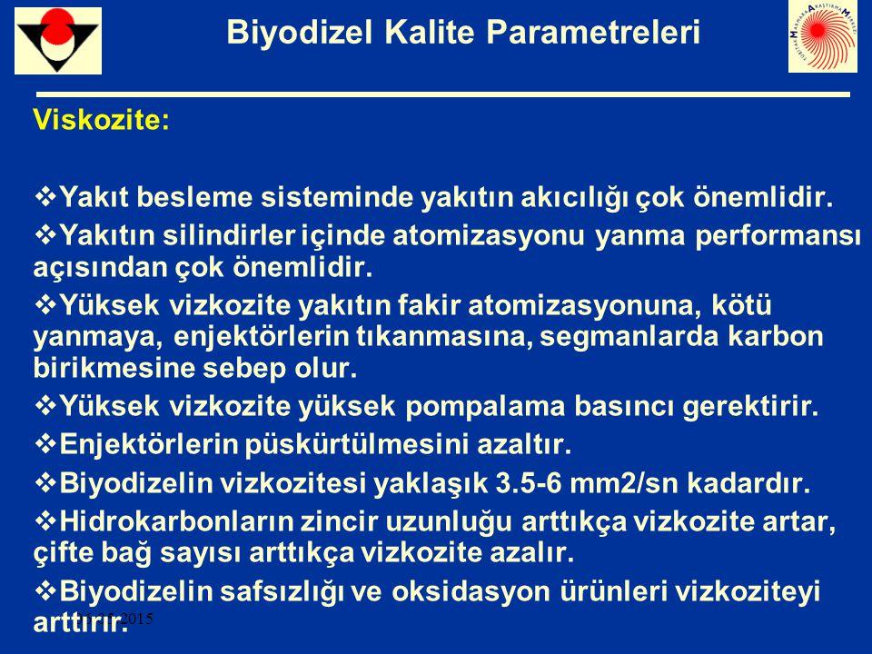 Biyodizel Kalite Parametreleri