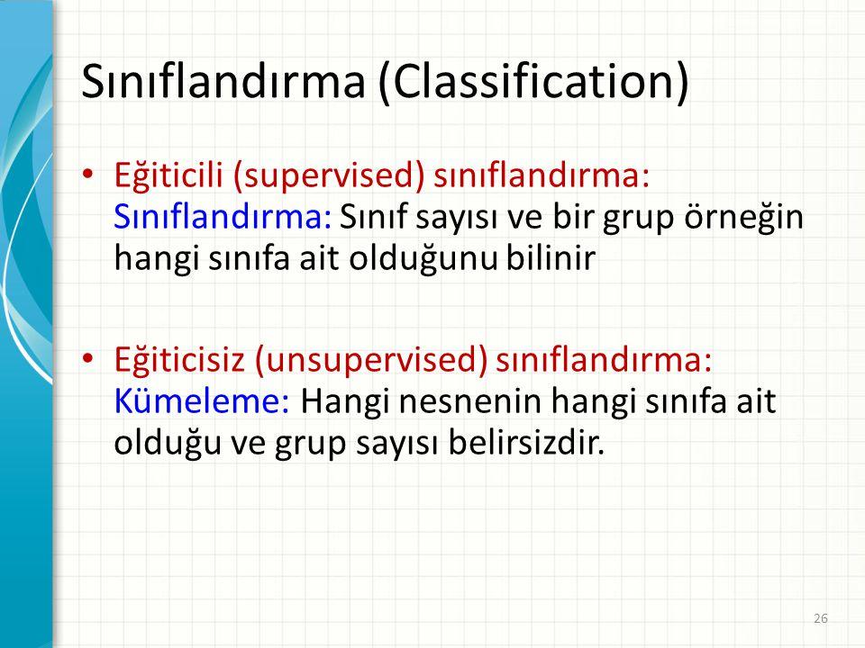 Sınıflandırma (Classification)
