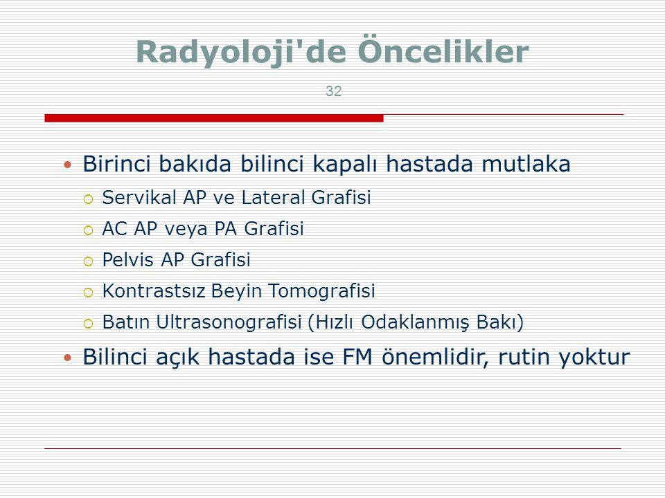 Radyoloji de Öncelikler