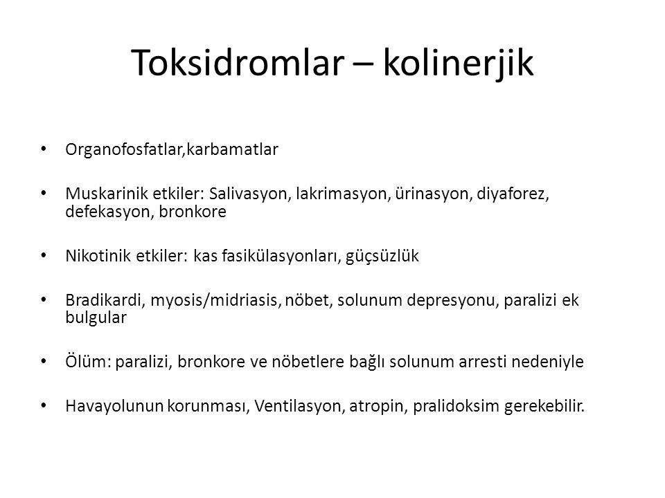 Toksidromlar – kolinerjik