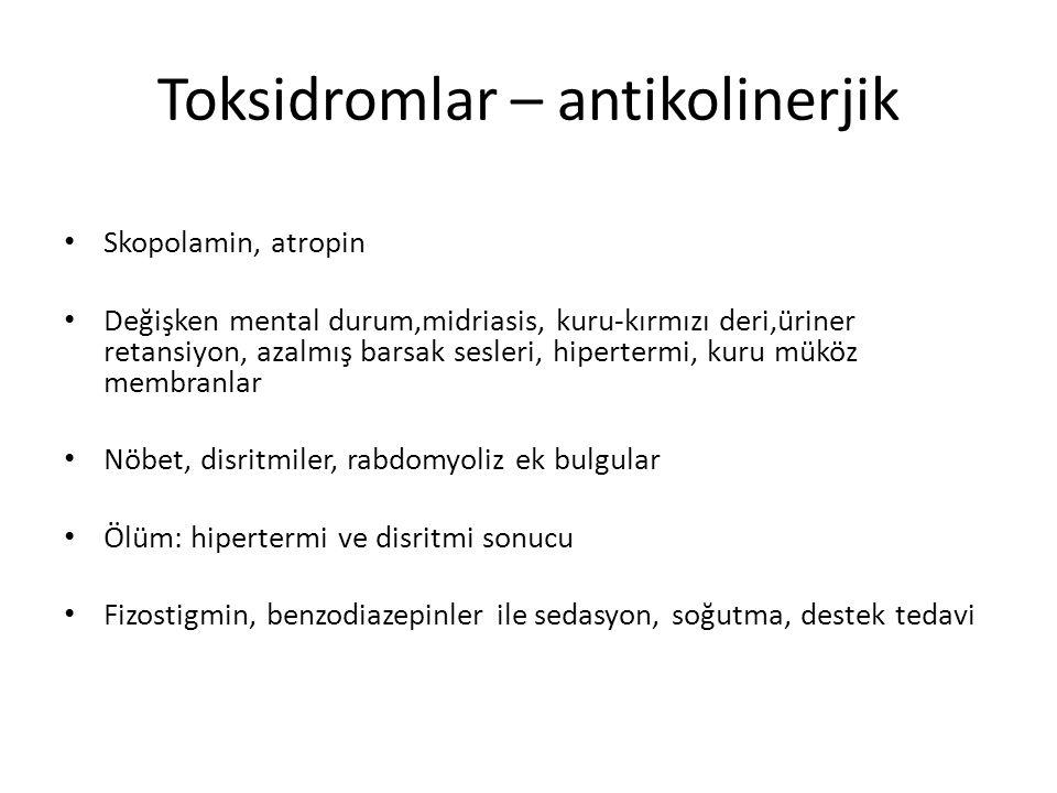 Toksidromlar – antikolinerjik