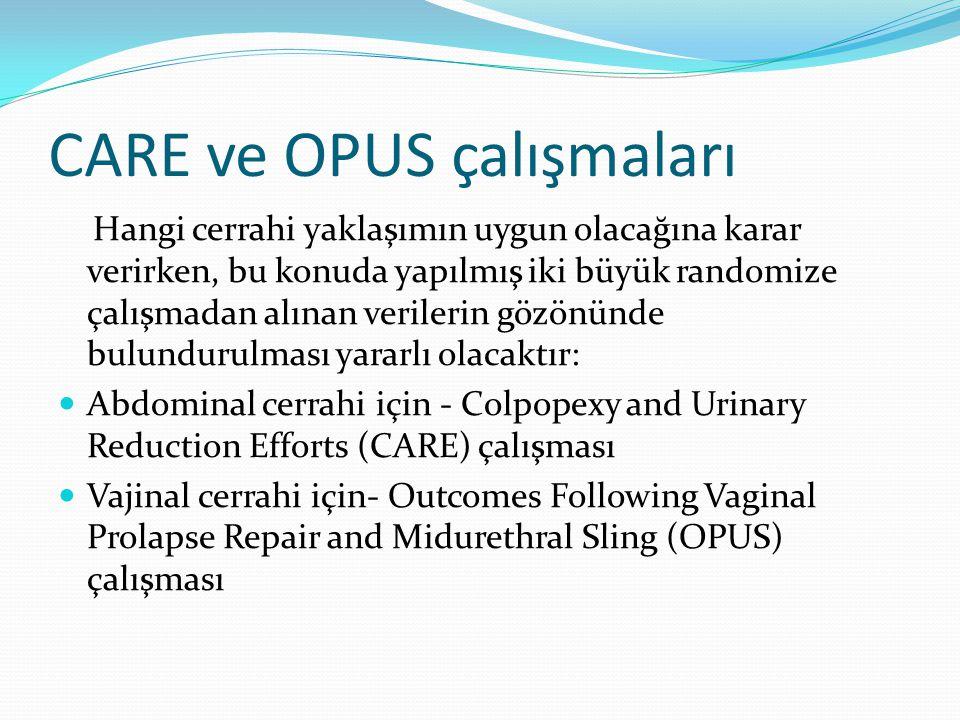 CARE ve OPUS çalışmaları