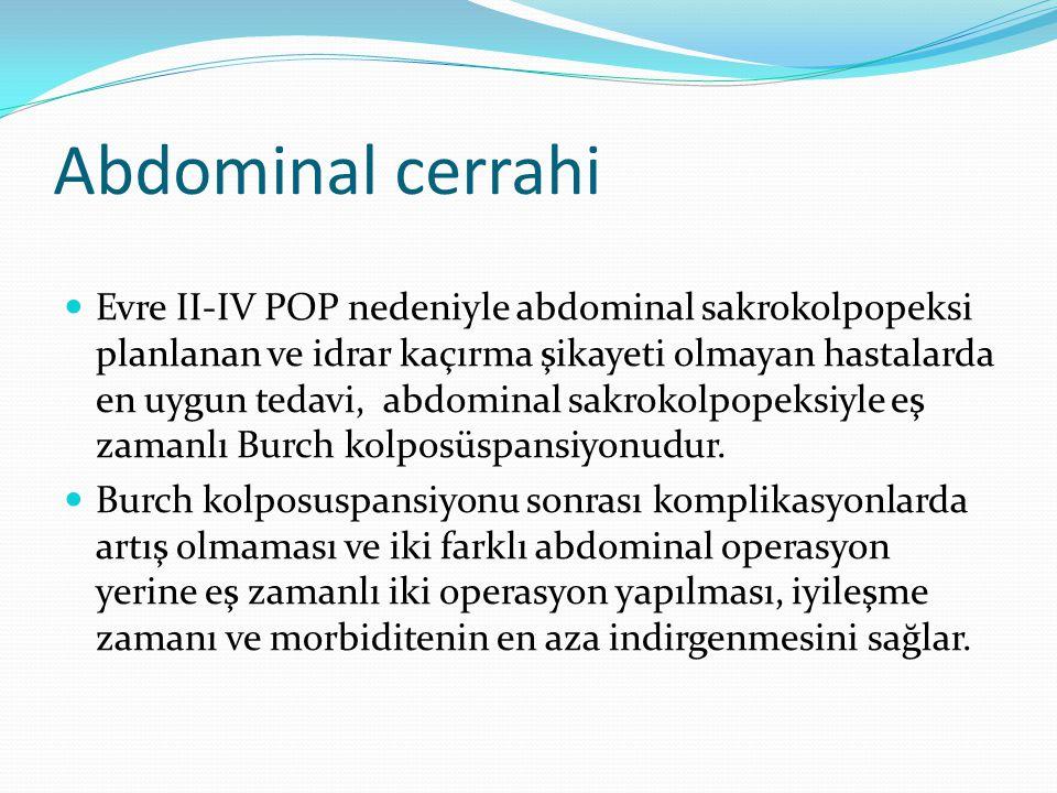 Abdominal cerrahi