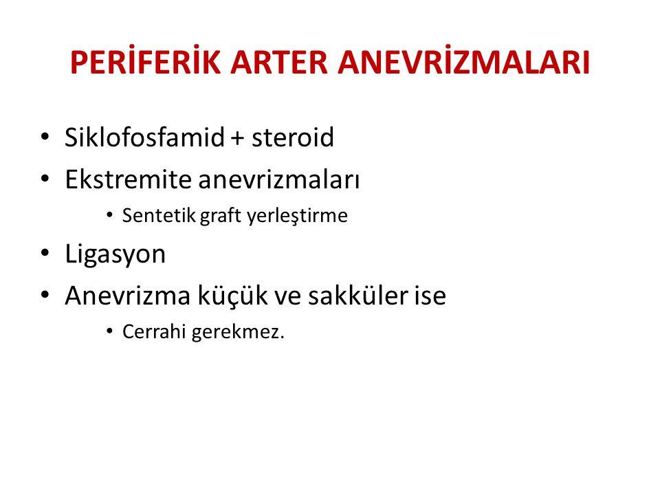 PERİFERİK ARTER ANEVRİZMALARI