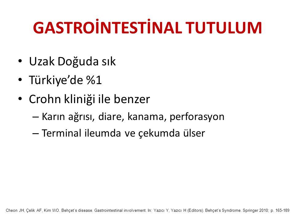 GASTROİNTESTİNAL TUTULUM