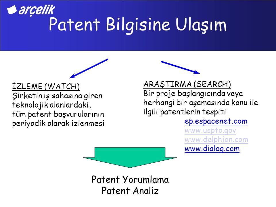 Patent Bilgisine Ulaşım