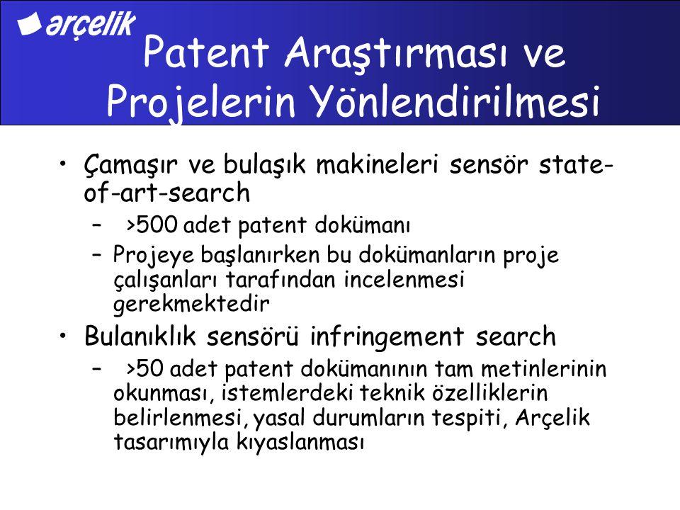 Patent Araştırması ve Projelerin Yönlendirilmesi