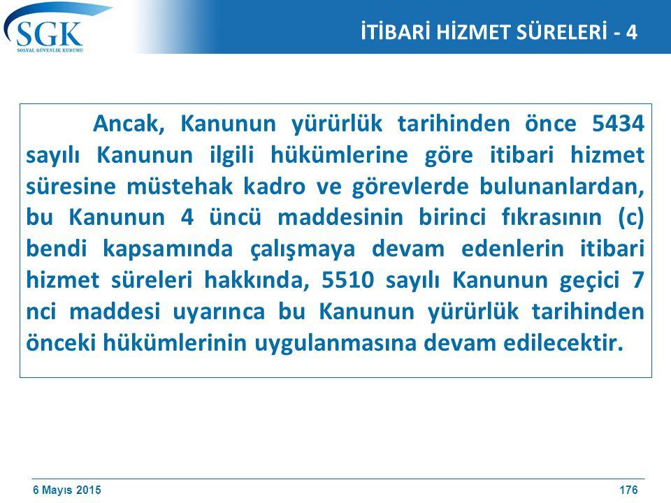 İTİBARİ HİZMET SÜRELERİ - 4