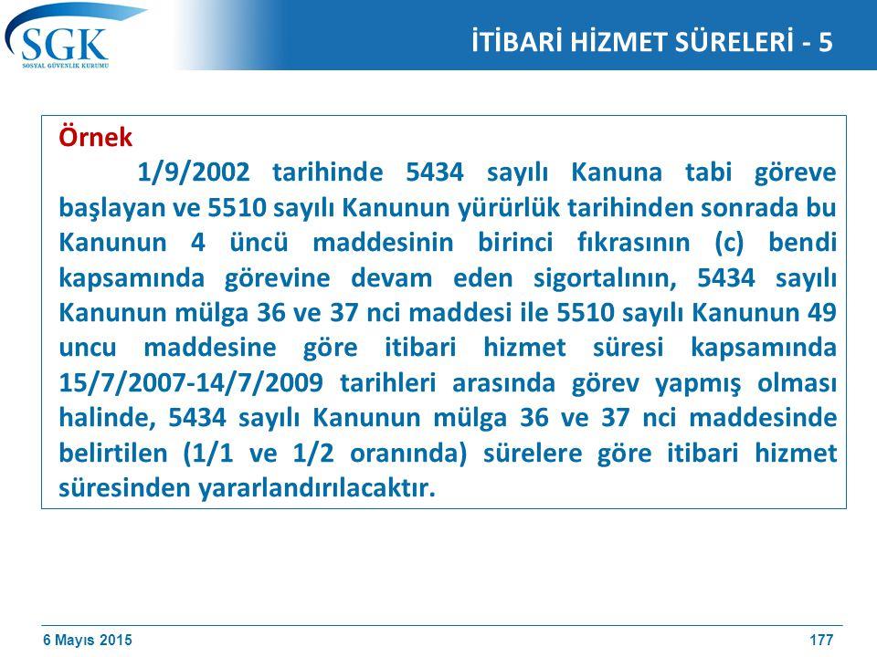 İTİBARİ HİZMET SÜRELERİ - 5