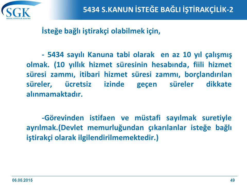 5434 S.KANUN İSTEĞE BAĞLI İŞTİRAKÇİLİK-2