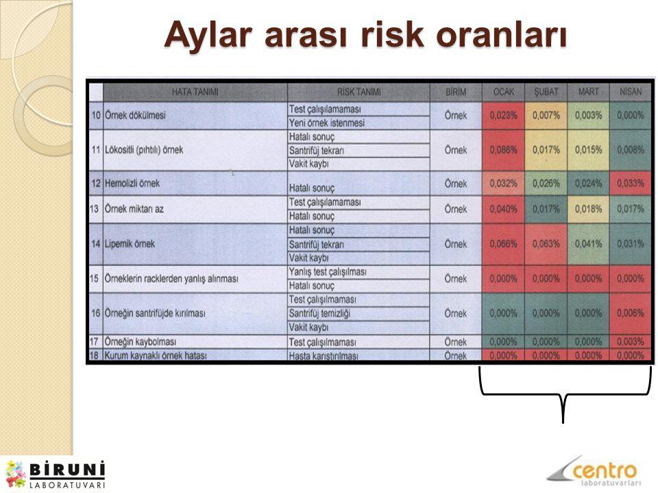 Aylar arası risk oranları