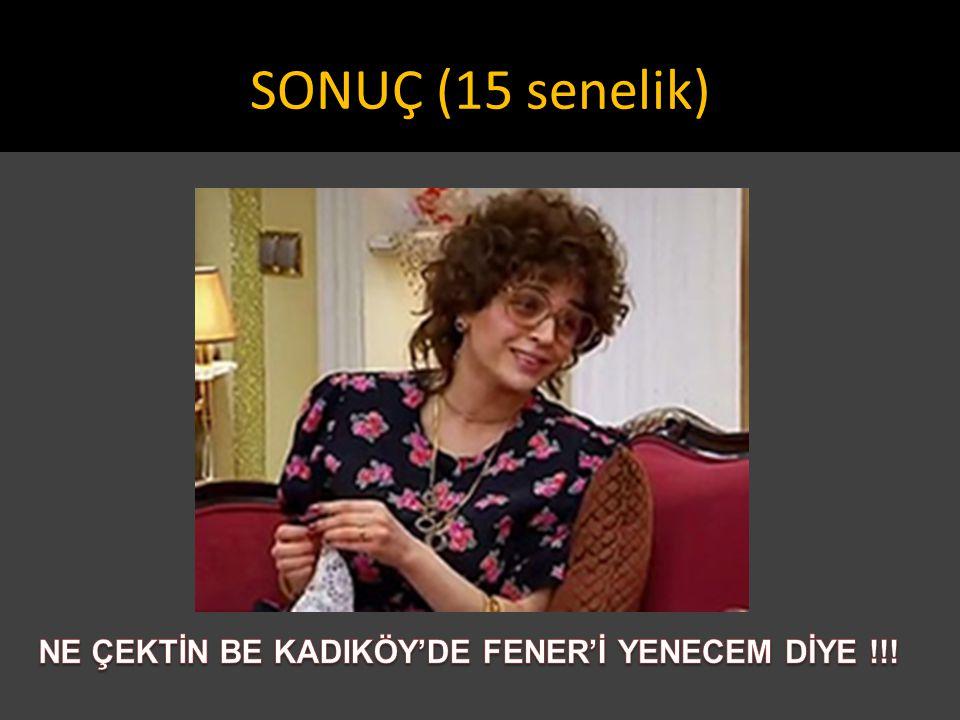 NE ÇEKTİN BE KADIKÖY'DE FENER'İ YENECEM DİYE !!!