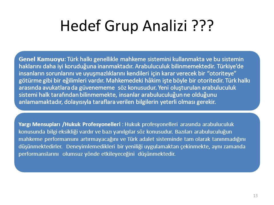 Hedef Grup Analizi