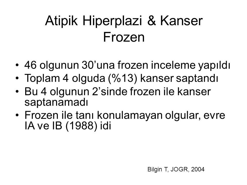 Atipik Hiperplazi & Kanser Frozen
