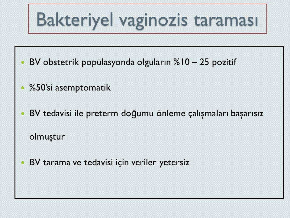 Bakteriyel vaginozis taraması