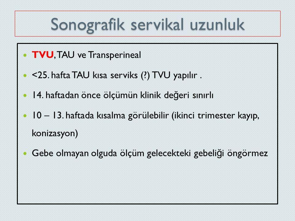 Sonografik servikal uzunluk
