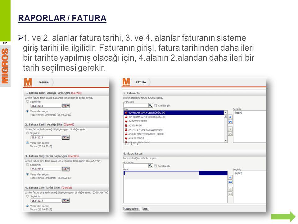 RAPORLAR / FATURA