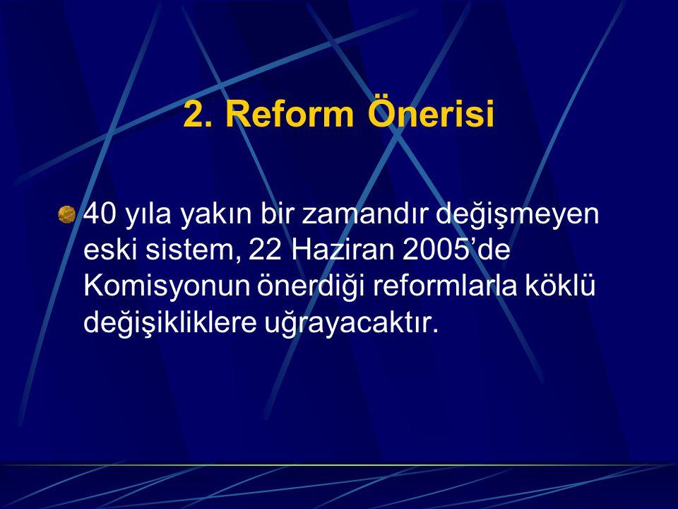 2. Reform Önerisi