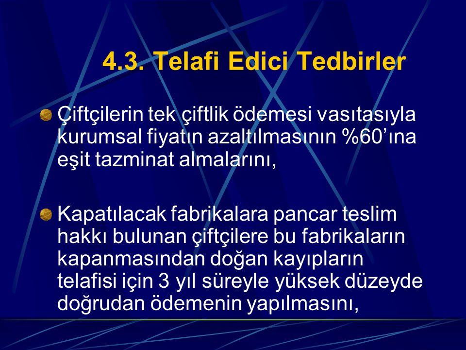 4.3. Telafi Edici Tedbirler