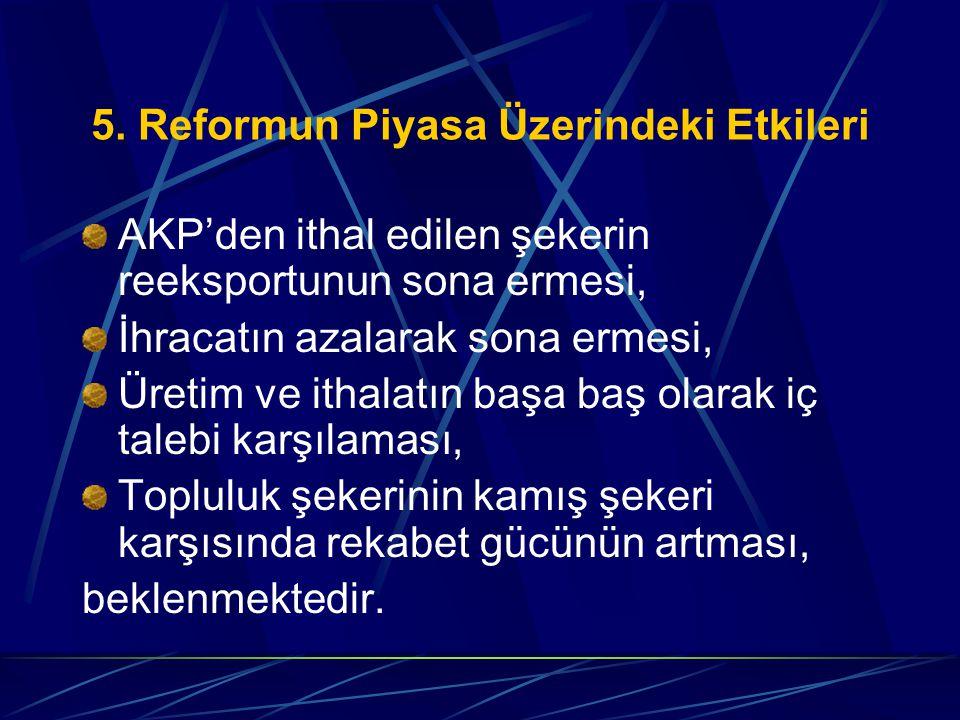 5. Reformun Piyasa Üzerindeki Etkileri