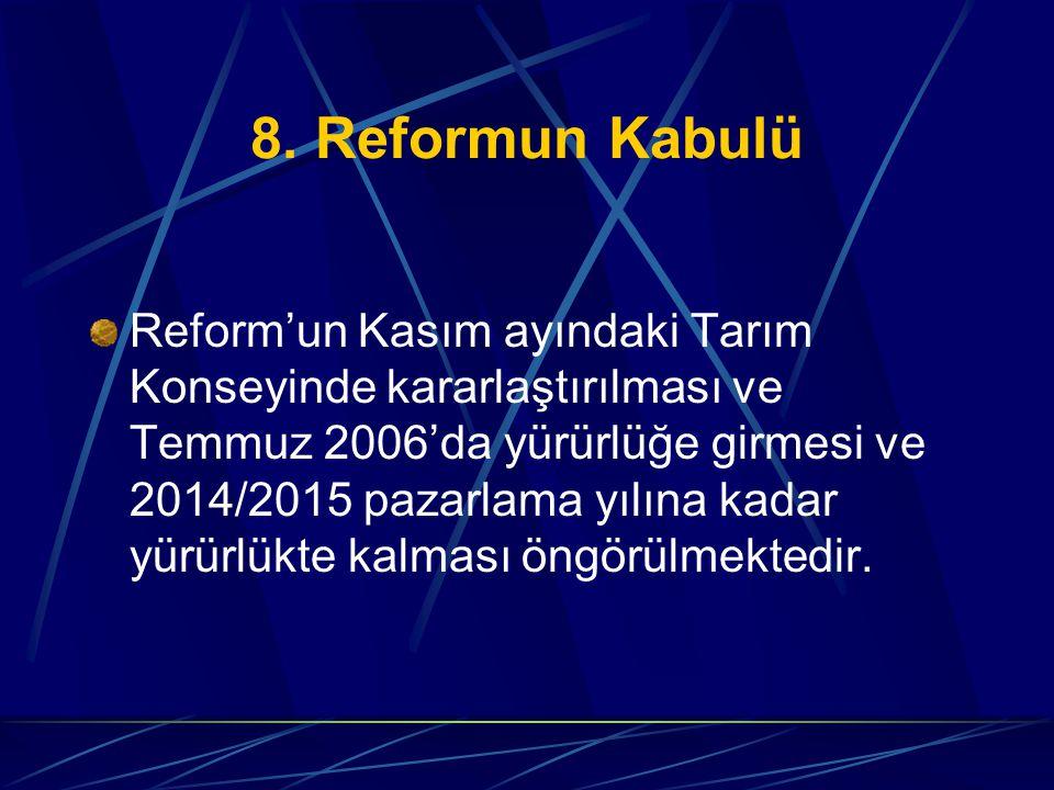 8. Reformun Kabulü
