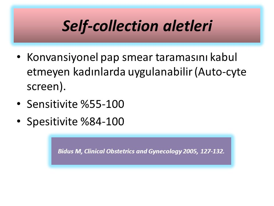 Self-collection aletleri