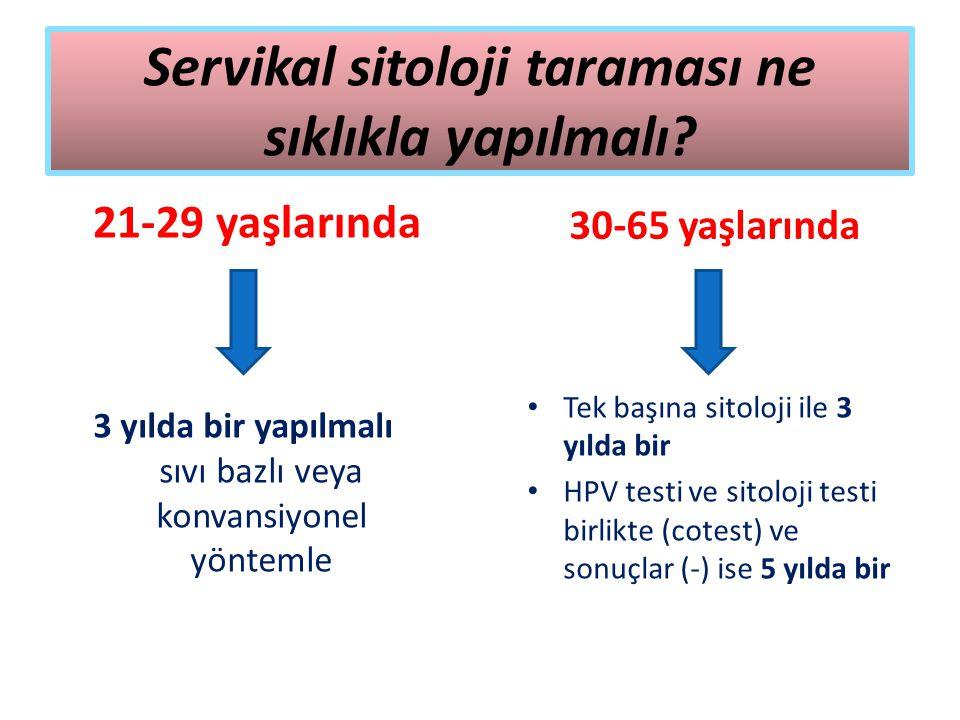 Servikal sitoloji taraması ne sıklıkla yapılmalı