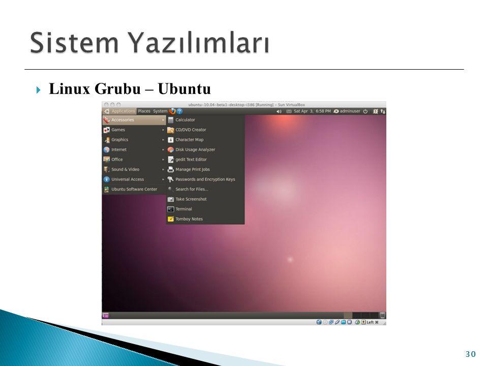 Sistem Yazılımları Linux Grubu – Ubuntu