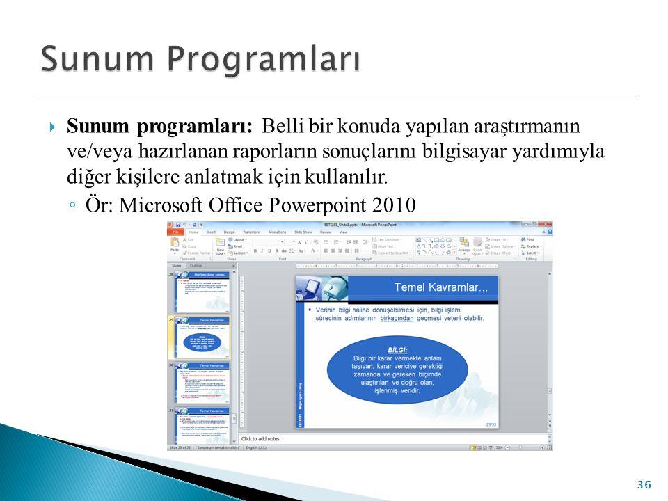 Sunum Programları