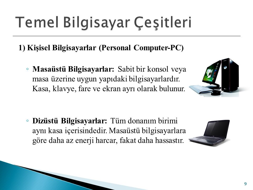 Temel Bilgisayar Çeşitleri