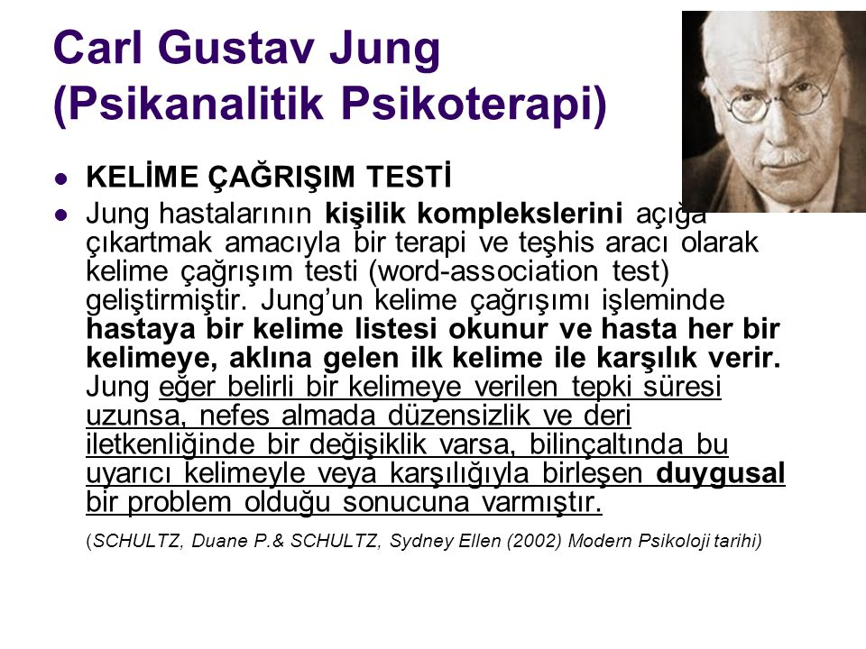 Carl Gustav Jung (Psikanalitik Psikoterapi)