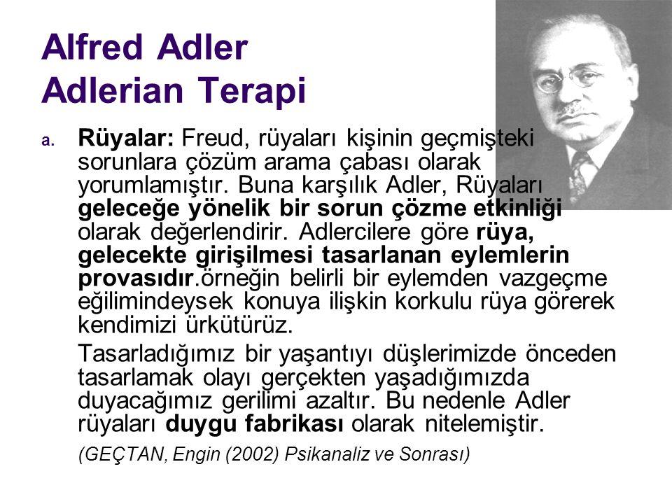 Alfred Adler Adlerian Terapi