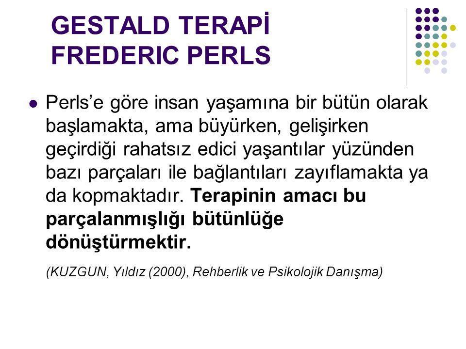 GESTALD TERAPİ FREDERIC PERLS
