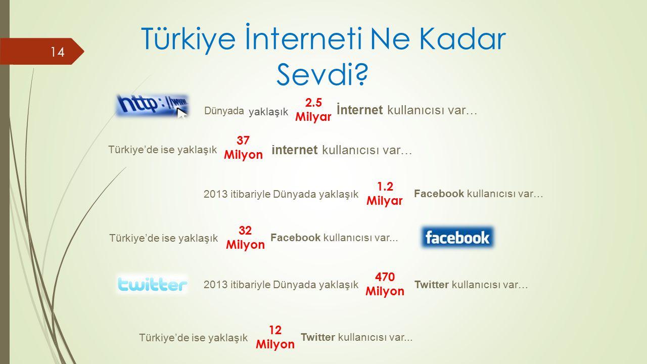 Türkiye İnterneti Ne Kadar Sevdi